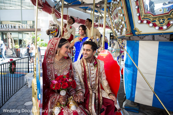 Indian couple on carouselle photography