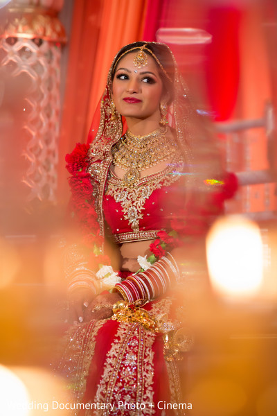 Beautiful indian bride photography at wedding ceremony