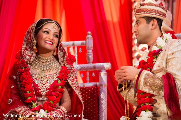 Indian couple photoshoot at wedding ceremony