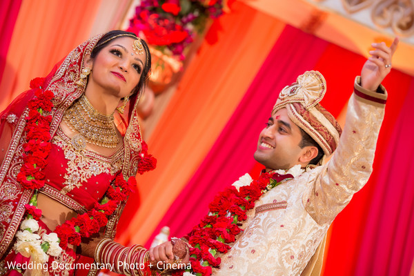 Indian couple photo session at wedding ceremony