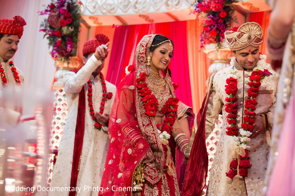 Indian couple photography at wedding ceremony