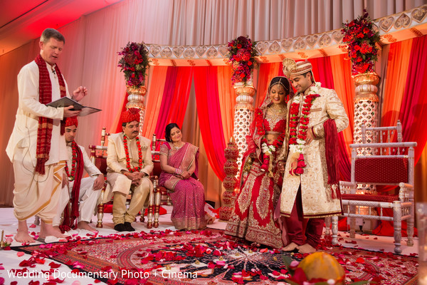 Indian couple at wedding ceremony
