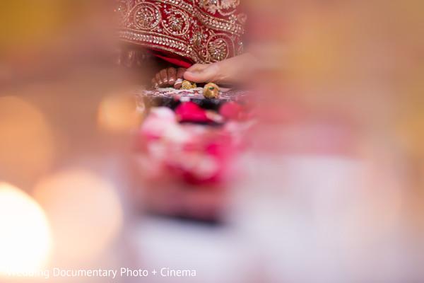 Beautiful indian couple at wedding ceremony