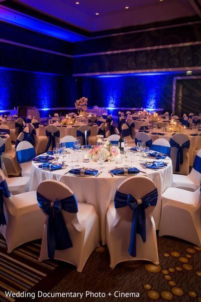 Blue lightning at indian wedding reception