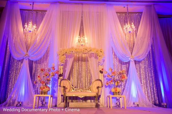 Mandap at indian wedding reception