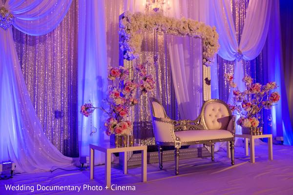 Beautiful mandap at indian wedding reception