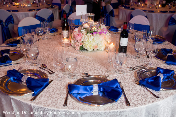 Tables at indian wedding reception