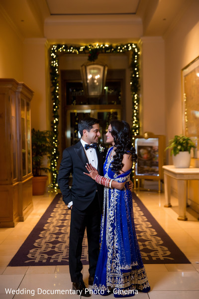 Indian couple photography at wedding reception