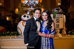 Indian couple, R2D2 and BB8 photography
