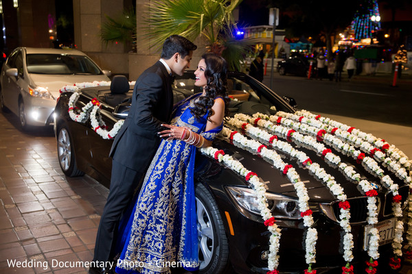 Indian couple outdoor photography before wedding reception
