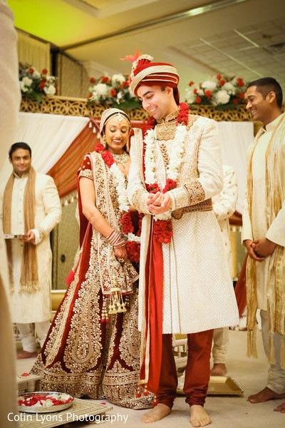 Indian couple during wedding ceremony