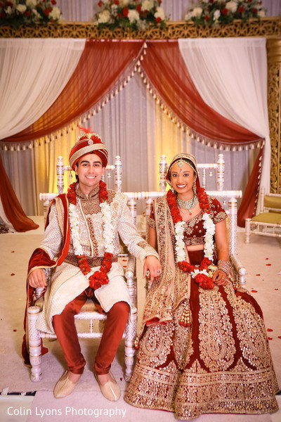 Indian couple in their wedding stage