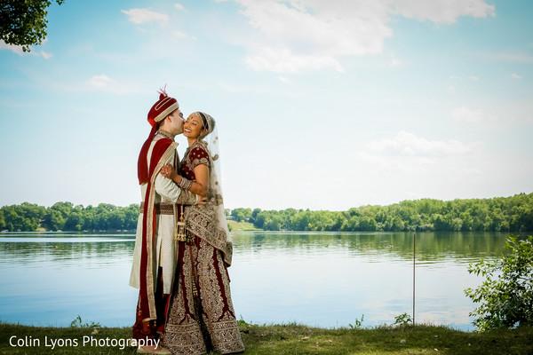 Post ceremony wedding photo shoot
