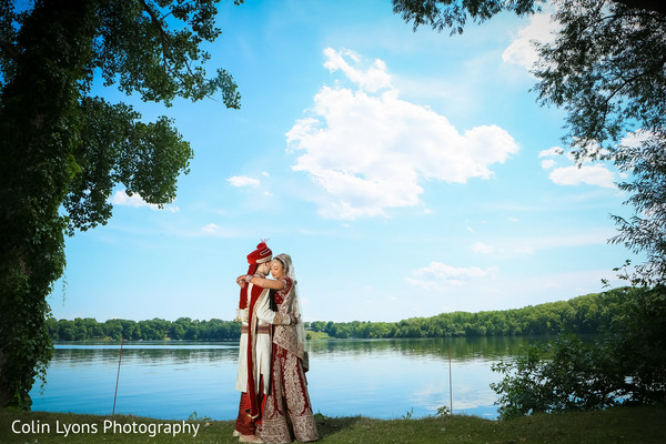 Amazing outdoor wedding photo