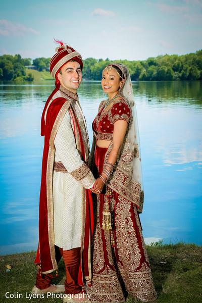 Lovely indian newlyweds