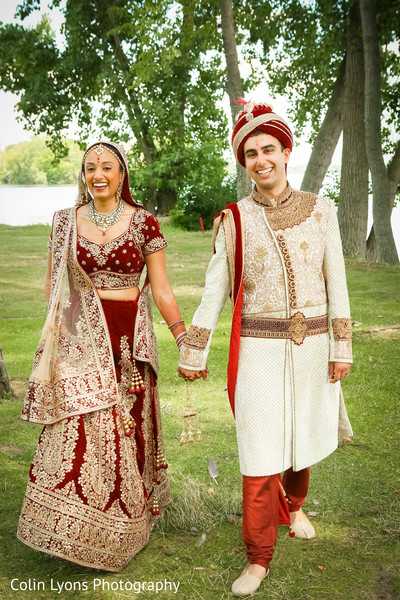 Candid indian newlyweds