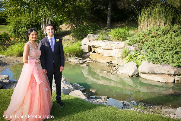Indian couple by little stream