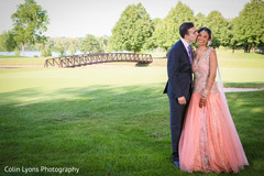 indian wedding gowns,peach bridal gown
