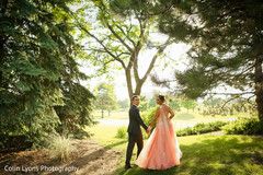 outdoor indian wedding portraits,indian bridal fashions,indian groom fashion