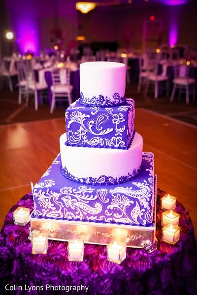 Exquisite mehndi print wedding cake