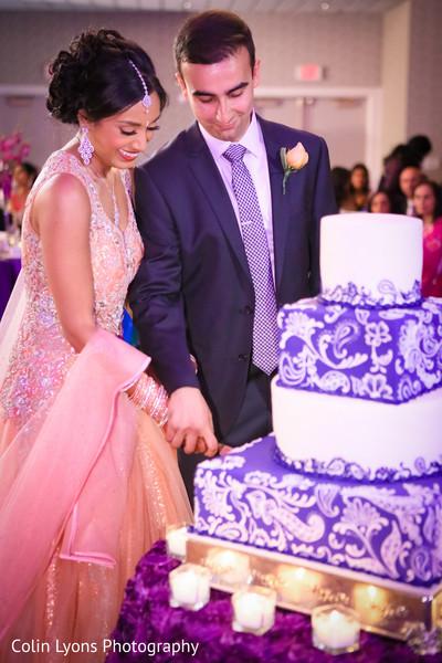 Gorgeous mehndi print wedding cake