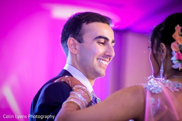 Happy indian groom