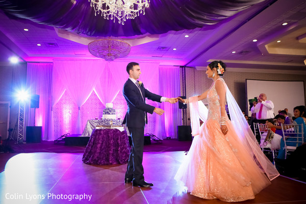 indian bride and groom first dance,indian wedding gowns,indian bridal fashions