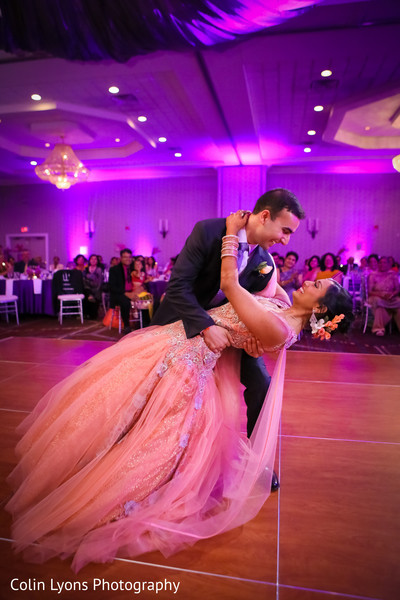 Lovely couple during their first dance