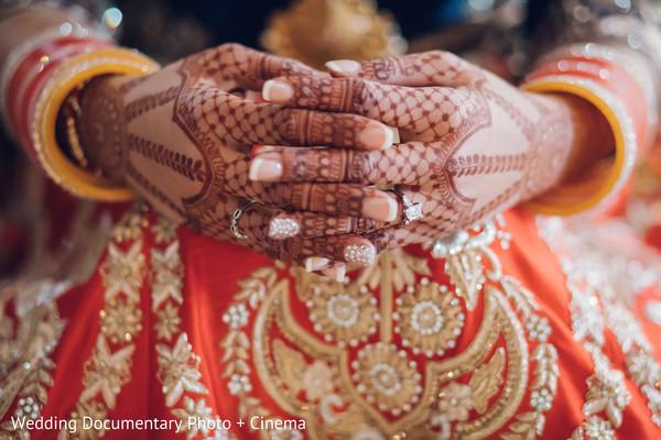 Indian bridal mehndi photography in California Sikh Wedding by Wedding Documentary Photo + Cinema