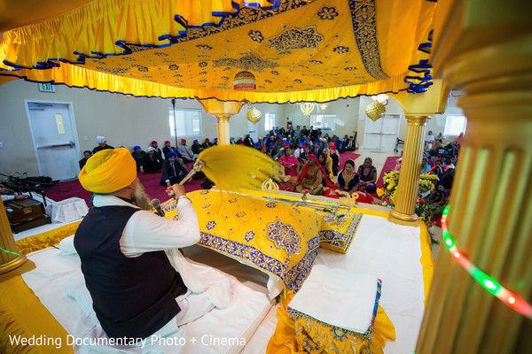 Indian wedding ceremony photography in California Sikh Wedding by Wedding Documentary Photo + Cinema