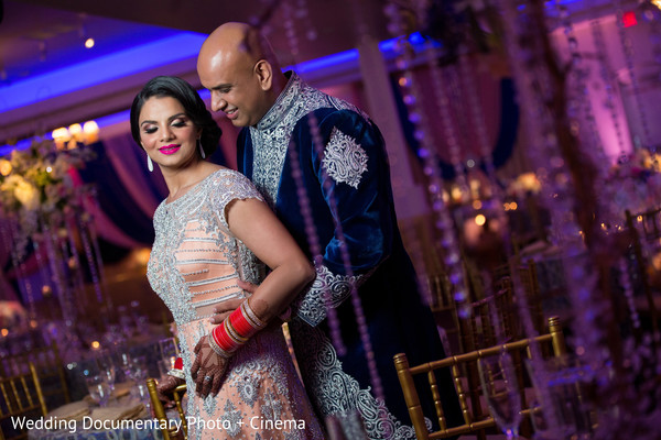 Indian couple photo session at wedding reception