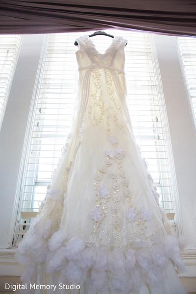 Indian bride white wedding dress in New York Wedding by Digital Memory Studio