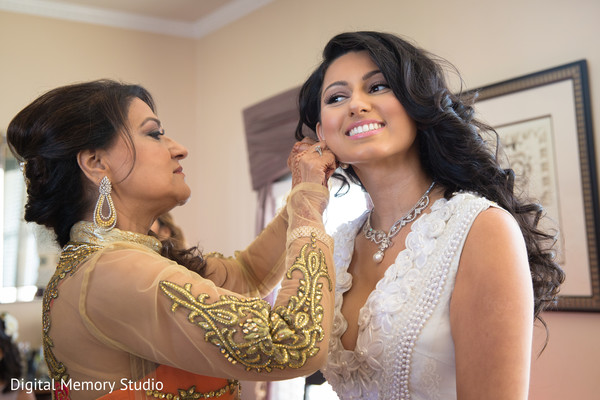 Beautiful indian bride getting ready photography in New York Wedding by Digital Memory Studio