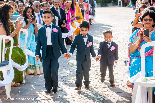 Indian kids arriving at wedding ceremony in New York Wedding by Digital Memory Studio