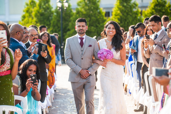Beautiful indian bride walking into wedding ceremony in New York Wedding by Digital Memory Studio