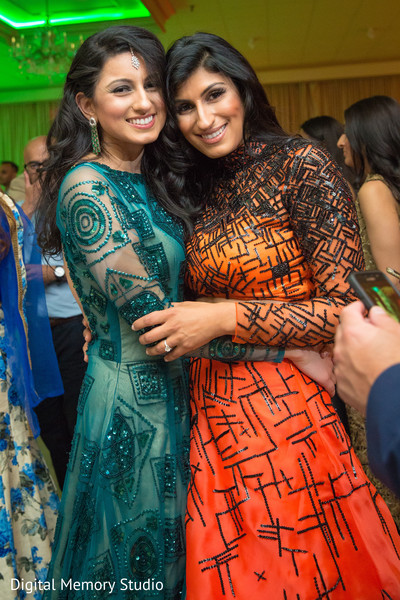Beautiful indian ladies photography at wedding reception in New York Wedding by Digital Memory Studio