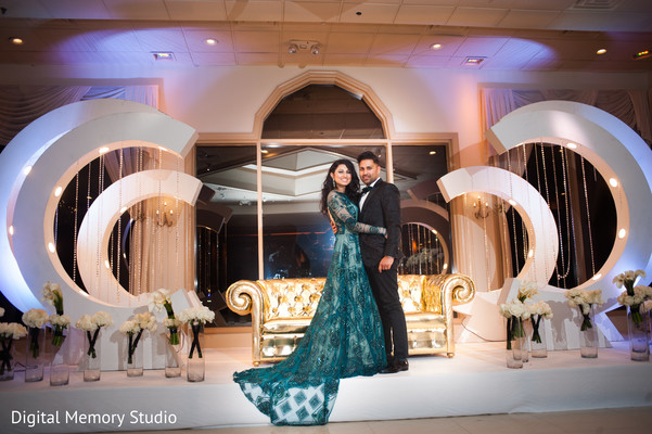 Indian couple photography at wedding reception in New York Wedding by Digital Memory Studio