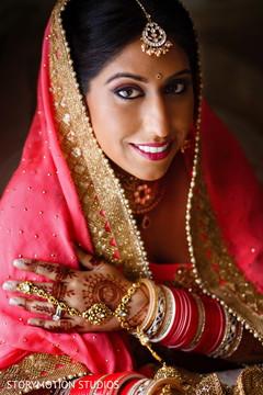 indian bridal fashions,indian bride makeup,indian wedding portrait