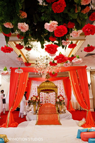 Sikh Wedding Ceremony Floral Decor Photo 108450