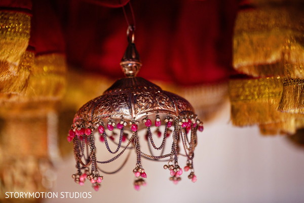 Sikh wedding ceremony  decor. in New Rochelle, NY Sikh Wedding by StoryMotion Studios