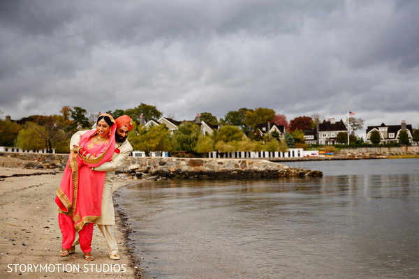 Inspirational sikh bride and groom capture. in New Rochelle, NY Sikh Wedding by StoryMotion Studios