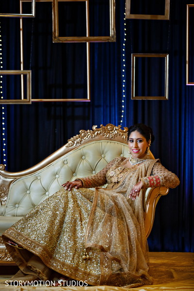 Dazzling Indian bride. in New Rochelle, NY Sikh Wedding by StoryMotion Studios