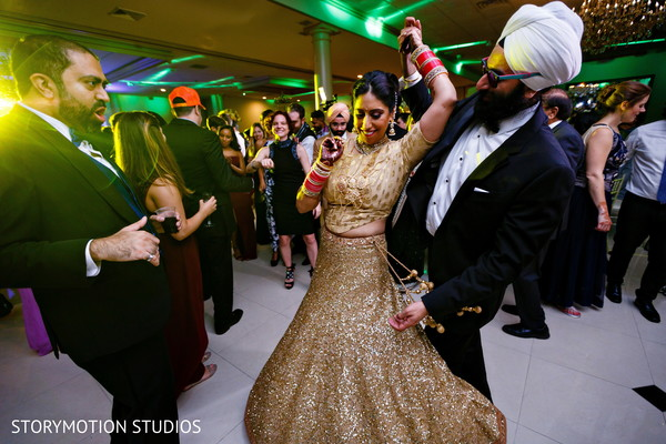Over the top indian wedding reception. in New Rochelle, NY Sikh Wedding by StoryMotion Studios