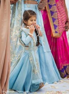 indian sari,baby blue sari,flower girl