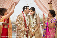 indian wedding couple,indian newlyweds