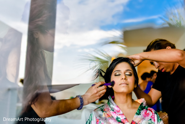 indian bride makeup,indian bride,indian bride getting ready