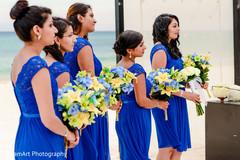 indian bridesmaids,indian wedding ceremony floral and decor,indian destination wedding