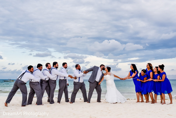 indian groomsmen,indian bridesmaids,indian wedding ceremony photography