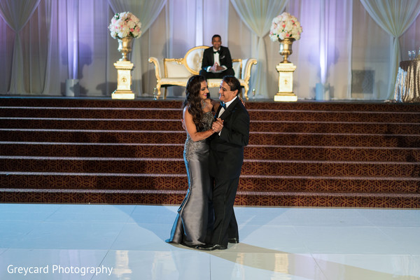 Sweet father and daughter dance. in Los Angeles, CA Indian Wedding by Greycard Photography