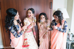 indian bride getting ready,indian bride,inidan bridesmaids